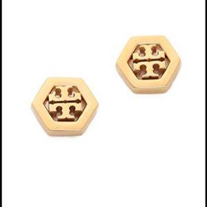 Tory Burch Gold Hexagon Earrings